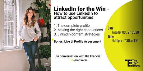 LinkedIn for the Win with Ilia Francis tickets