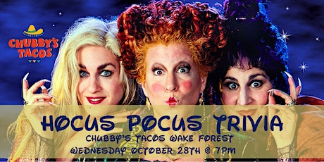 Hocus Pocus Trivia at Chubby's Tacos Wake Forest tickets