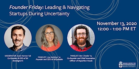 Founder Friday: Leading & Navigating Startups During Uncertainty tickets