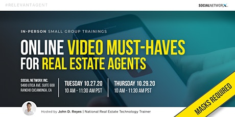 Online Video Must-Haves for Real Estate Agents | Small Group Trainings tickets