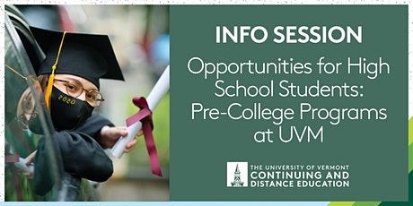 Opportunities for High School Students: Pre-College Courses at UVM tickets