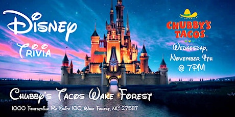 Disney Movies Trivia at Chubby's Tacos Wake Forest tickets