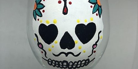 """At Home Paint and Sip Event - """"Dia de los Muertos"""" - Glass Painting tickets"""