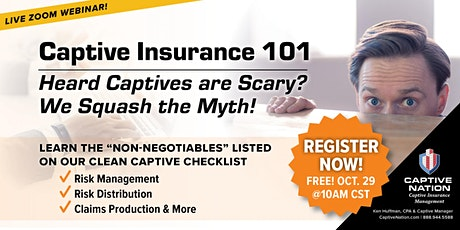 Heard that the Captive Insurance Tax Strategy is Scary? We Squash the Myth! tickets