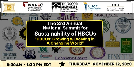 The 3rd Annual National Summit for Sustainability of HBCUs tickets