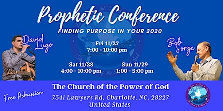 Prophetic Conference-Finding Purpose in Your 2020- November  27-28-29-2020 tickets
