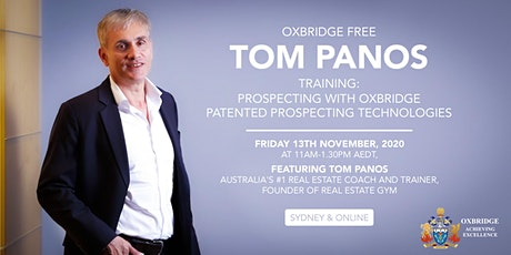Free Oxbridge Training with Tom Panos tickets