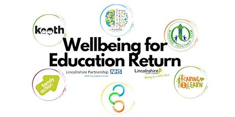 WER Webinar 1  - Whole School Approach to Wellbeing tickets