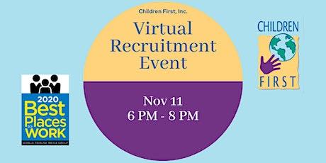 Children First, Inc. Virtual Recruitment Event - Sarasota/Venice tickets