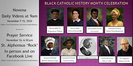 Novena for Black Catholic History Month tickets