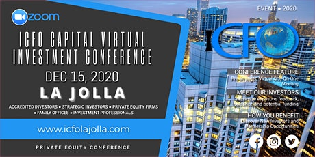Live Web Event: The iCFO Virtual Investor Conference - La Jolla, CA tickets