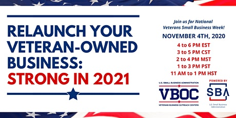 Relaunch Your Veteran-Owned Business: Strong in 2021 tickets