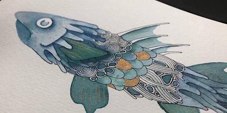 Zentangle® meets Watercolor! (Illustrative Fish) tickets