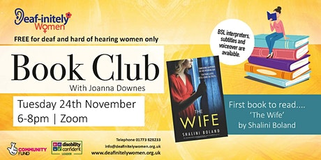 Deaf-initely Women: Book Club 'The Wife' by Shalini Boland tickets