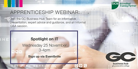 Gloucestershire College - IT Apprenticeships Webinar for Employers tickets