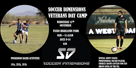 Soccer Dimensions Veterans Day Camp tickets