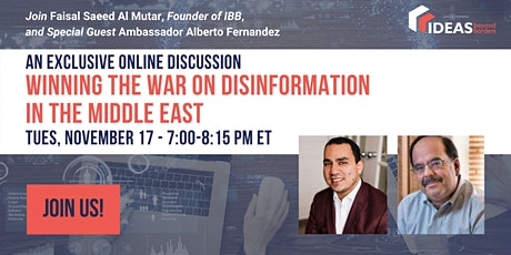 Winning the War On Disinformation in the Middle East tickets