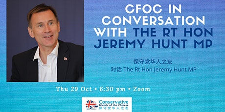 CFOC Conversation with Jeremy Hunt tickets