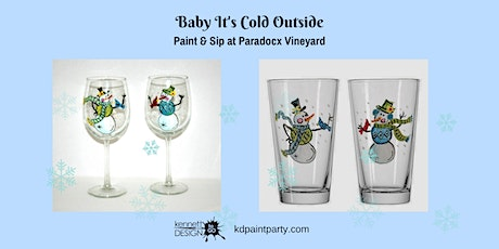 Paint and Sip - Snowman Glasses - Live Event! tickets