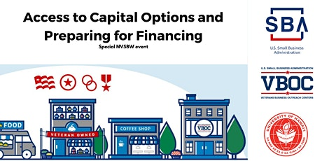 Access to Capital Options and Preparing for Financing tickets