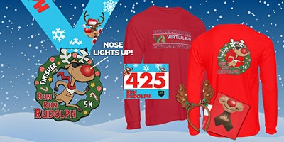 2020 Run Run Rudolph Virtual 5k Run Walk - San Fra