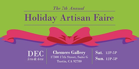 Holiday Artisan Faire 2020 tickets