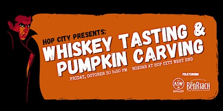 Whiskey Tasting and Pumpkin Carving with ASW and BenRiach tickets