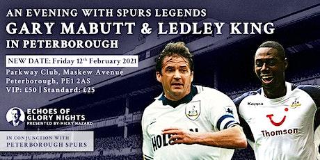 An evening with Spurs & England legends Gary Mabbutt & Ledley King tickets