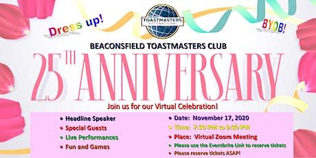Beaconsfield Toastmasters - 25th Anniversary Celebration tickets