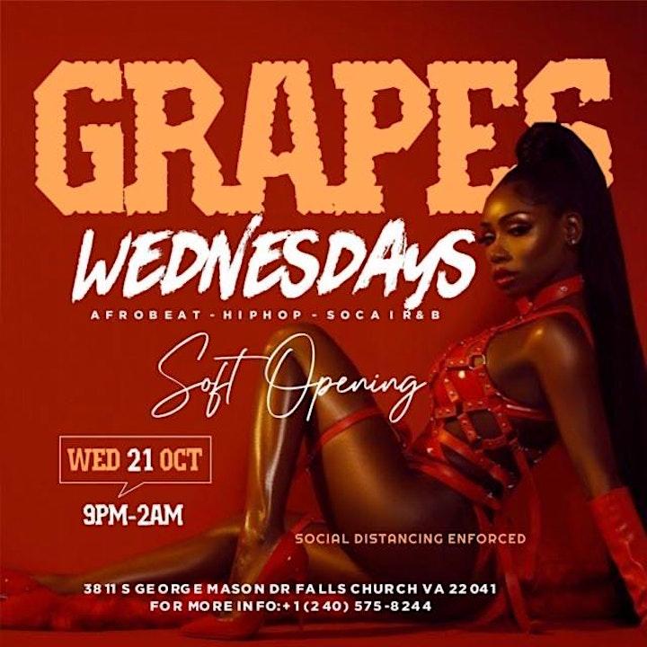 Grapes Wednesdays (Afrobeats; HipHop; Dancehall; Soca) image