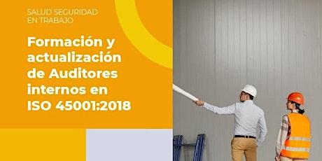 Formación y Actualización de Auditores Internos en ISO 45001:2018 boletos