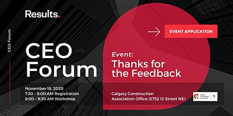 CEO Forum: Thanks For the Feedback - Application tickets