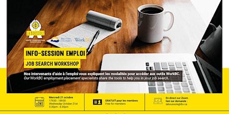 Info session emploi - webinar tickets