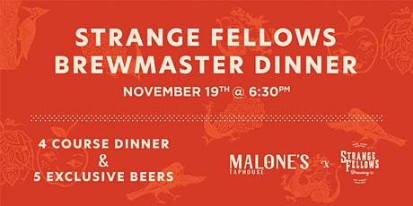 BrewMaster Dinner at Malone's Taphouse tickets