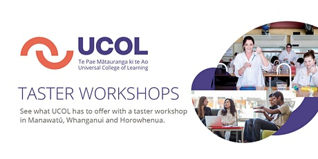UCOL Taster Workshops tickets