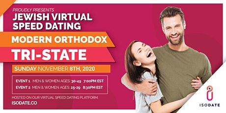 Isodate's Modern Orthodox Tri State Jewish Virtual Speed Dating tickets