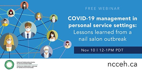 COVID-19 management in personal service settings tickets