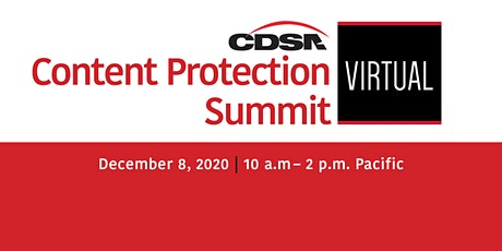 Content Protection Summit 2020 tickets