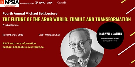 Michael Bell Lecture: The Future of the Arab World: Tumult & Transformation tickets