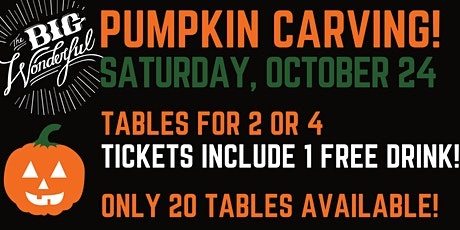 Pumpkin Carving at TheBigWonderful Beer Garden tickets