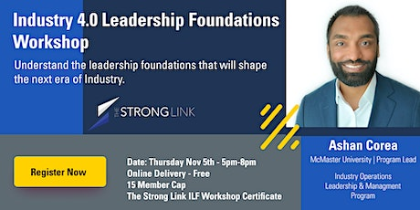 Industry 4.0 Leadership Foundations Workshop tickets