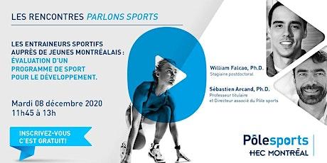 les rencontres Parlons sports : Évaluation d'un programme de sport billets