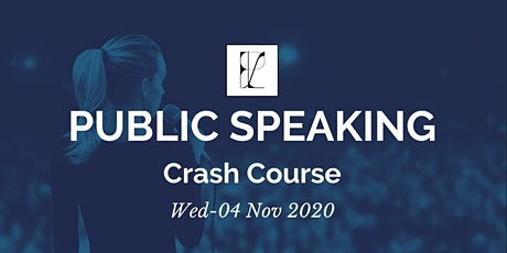 Public Speaking  Crash Course (In-person) tickets