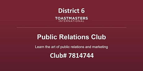 PR6 Toastmasters meeting - 8th meeting tickets