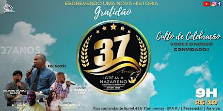 37º Aniversário da Igreja do Nazareno em São Pedro da Aldeia às 9h ingressos