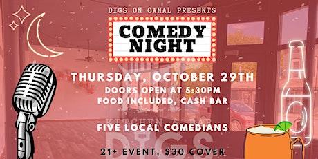 Digs Comedy Night on Main Street tickets