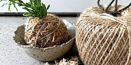 Concrete Bowl and Kokedama Workshop tickets