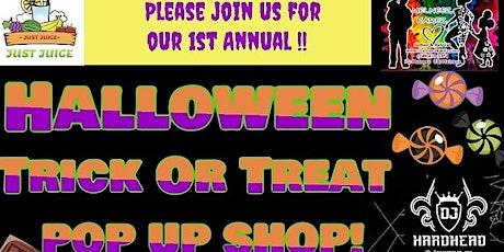 Halloween trick or treat popup shop tickets