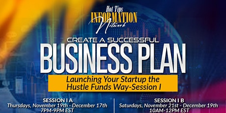 Webinar - Creating a Successful Business Plan - Launching Your Startup the tickets