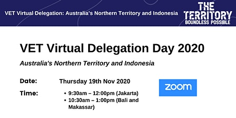 VET Virtual Delegation  - Australia's Northern Territory and Indonesia tickets